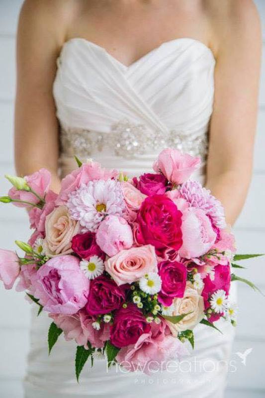 Pink David Austin Peony Wedding Bouquet