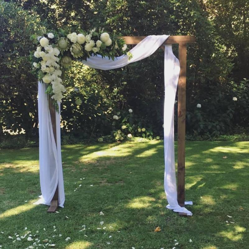 White and Green Arbour