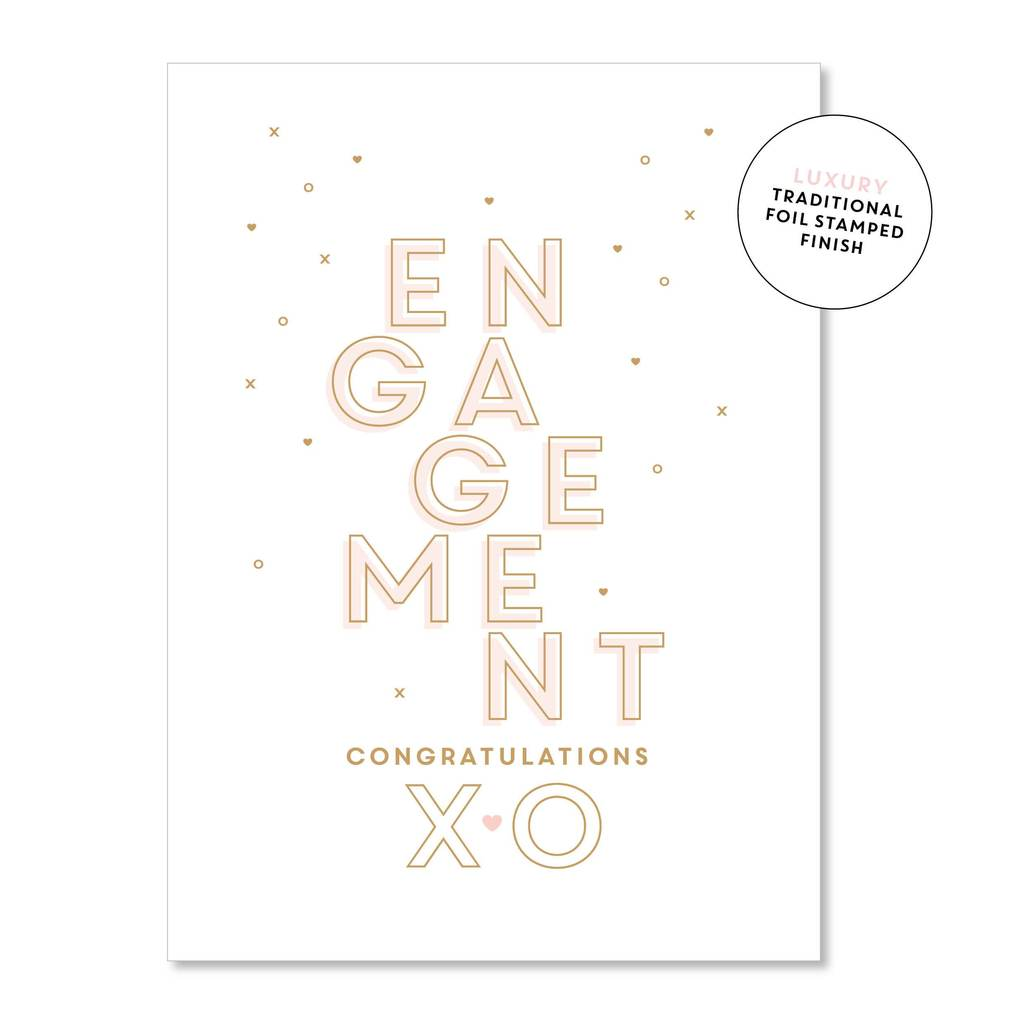 Engagement Greeting Card