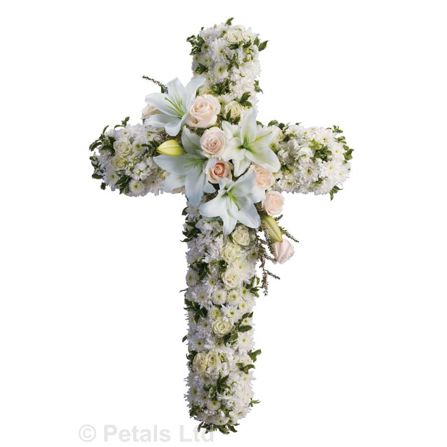 Divine light sympathy funeral flowers cross divine light izmirmasajfo